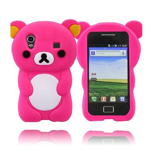 Cute Bear (Hot Rosa) Samsung Galaxy Ace Deksel