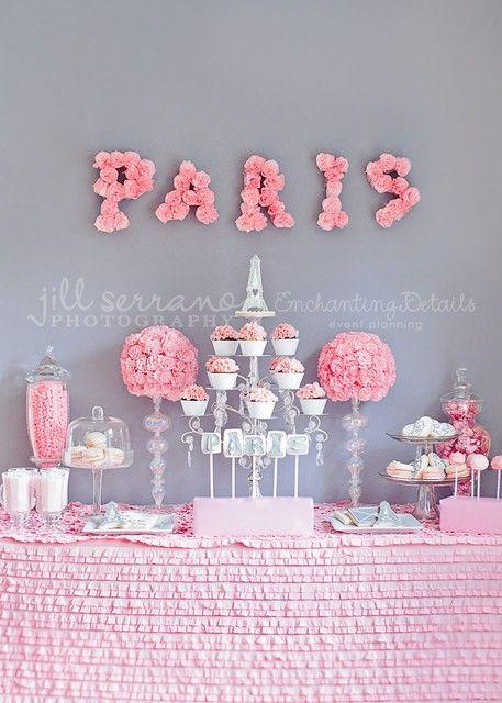 PARIS PINK PARTY- The Dessert Table