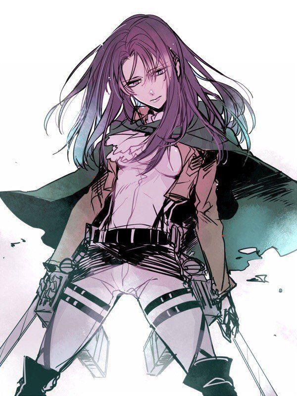 Genderbent Levi ^ I honestly love gender benders and this one in particular is amazing.