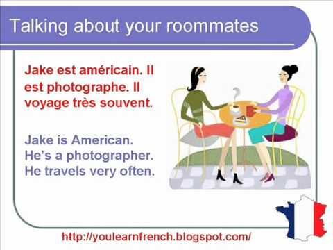 French Lesson 158 - Talking about your roommates - Dialogue Conversation + English subtitles - YouTube