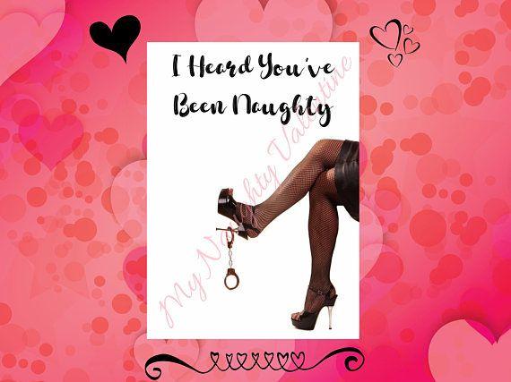 Youve Been Naughty, Printable Naughty Card, DIY Dirty Card, Naughty  Valentines Day Gift, Valentines Day Gift For Him, DIY Naughty Valentine    Give The ...