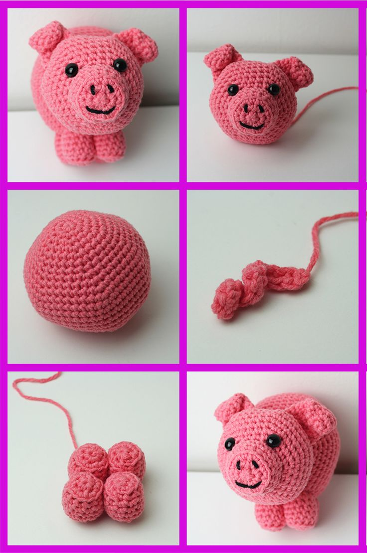 Free Crochet Pig Pattern by Lucy Kate Crochet