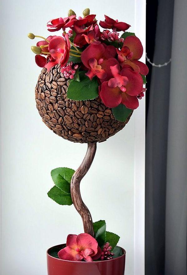 HappyModern.RU   Кофейные деревья (40 фото): как создать топиарий своими руками   http://happymodern.ru