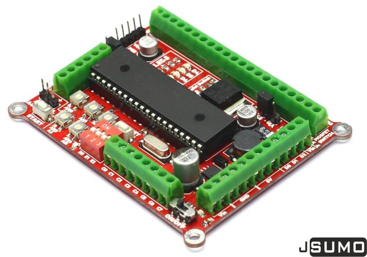 Checkout Propic40 Controller: https://jsumo.com/shop/propic40-pic16f877a-mainboard/ Special board for sumo robots.