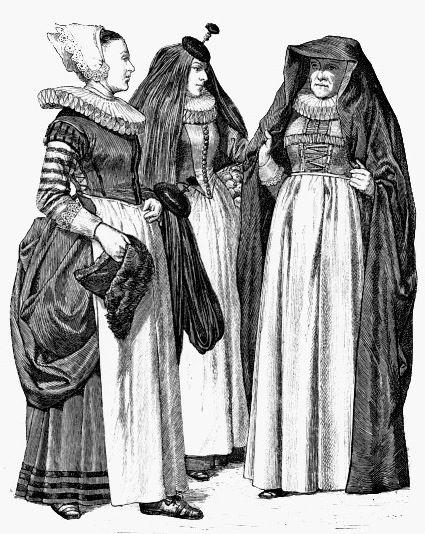 Костюмы немецких женщин