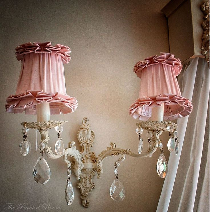 Silk French vintage style chandelier lampshades  The Painted Room www.thepaintedroom.co.uk