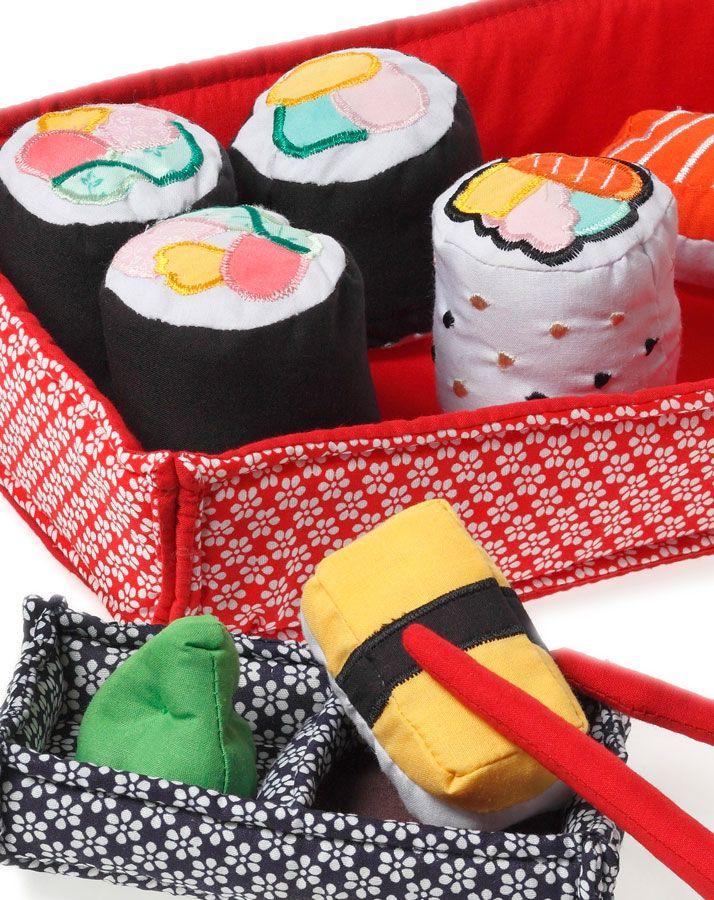Oskar Sushi-Set zum Spielen 10-teilig in rot/bunt bei tausendkind online bestellen