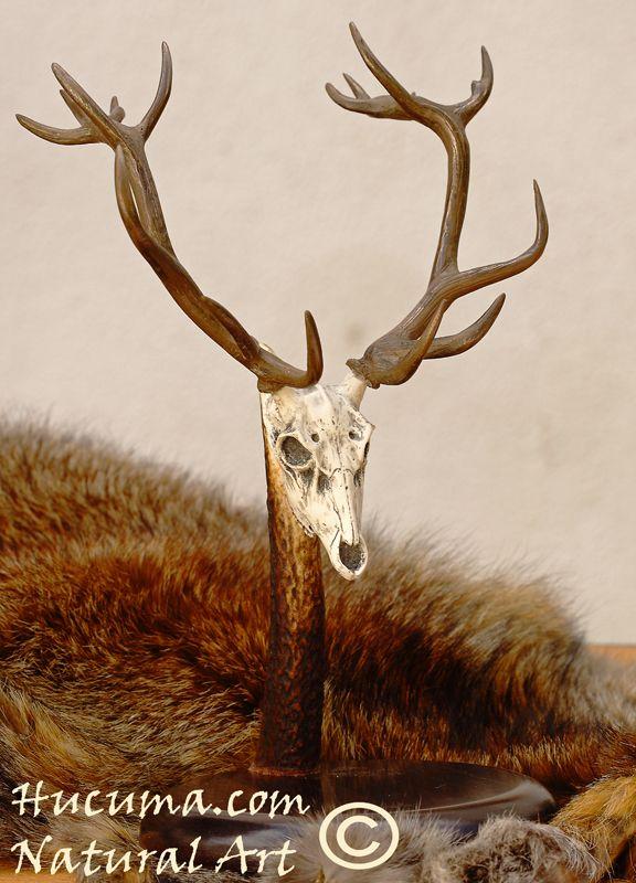 HUCUMA. artesanía en hueso y de diseño.: Trofeo ciervo pequeño