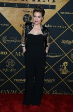 ALYSSA MILANO at Maxim Magazine and Bootsy Bellows Super Bowl Party in San Fracisco