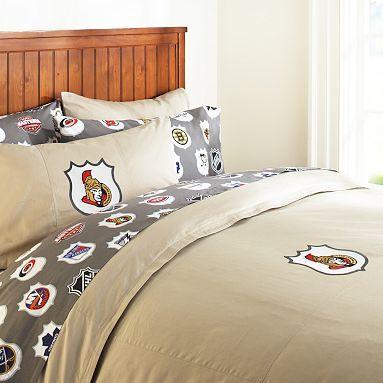 I love the Ottawa Senators Duvet Cover & Pillowcase on pbteen.com