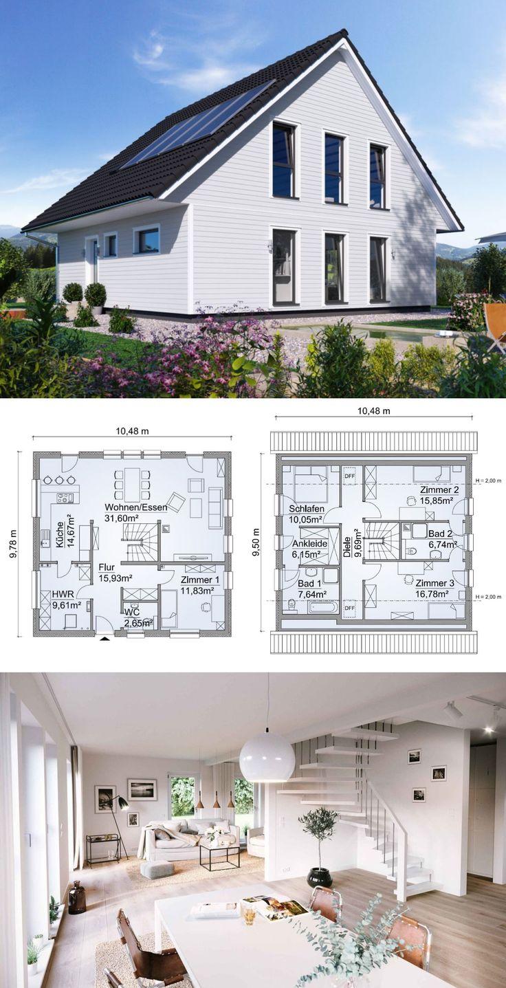 Modernes Landhaus im Schweden Stil mit Holz Fassad…