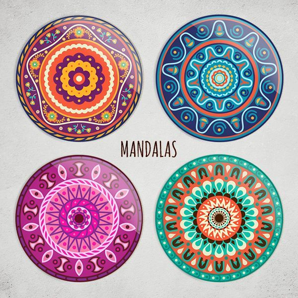 Etnik Mandala HDF Bardak Altlığı Seti Zet.com'da 49.90 TL