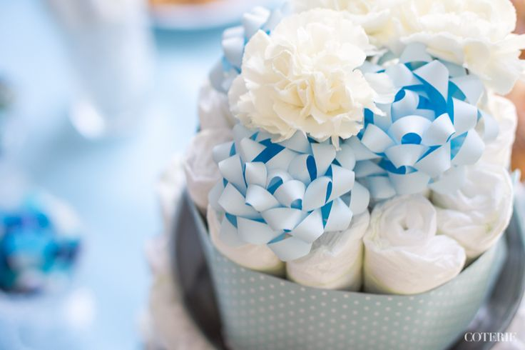 It's a boy! Decoration ideas for a baby shower.  Check out the whole blog post here: http://www.coterie.fi/baby-shower-for-a-boy-vauvakutsut-pojalle/