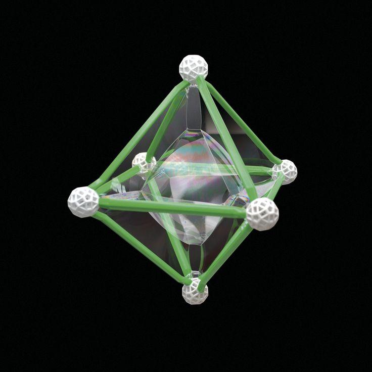 Oktaeder-Bubble. Ein Beispiel aus Zometools 'Crazy Bubbles'. Mehr Info und Ideen im Produkt. #fun #physik #bubbles #lernen #kreativität #DIY #education #science #crazybubbles #zometool