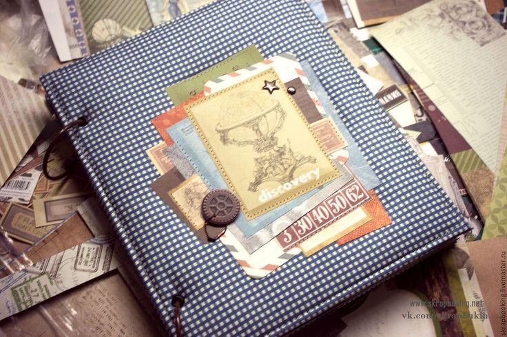 Купить Альбом Путешествий - васильковый, Скрапбукинг, скрапбукинг альбом, альбом скрапбукинг, альбом путешествий