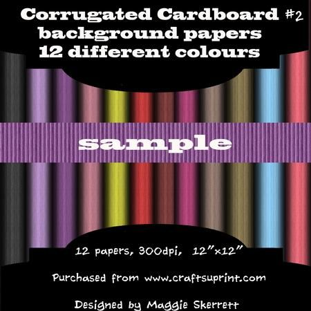 Corrugated Cardboard set 2 on Craftsuprint - Add To Basket!