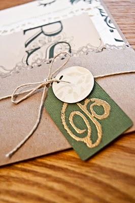 Earthy victorian wedding invites