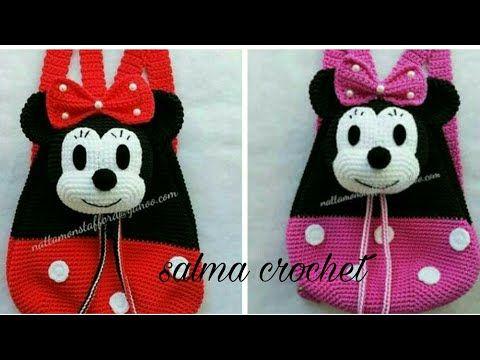 كروشيه شنطة مدرسة (ميكي او ميني)خطو ة بخطوة (2)Crochet school bag (Mickey or Mini) is very easy - YouTube