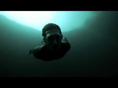 Guillaume Nery base jumping at Dean's Blue Hole, filmed on breath hold by Julie Gautier: Love the new Pinterest Video App! #Freediving #Guillaume_Nery #Dean's_Blue_Hole #Julie_Gautier