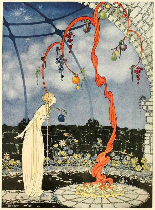 Beautiful Vintage Illustrations from 'Old French Fairy Tales'/Chicago-born illustrator Virginia Frances Sterrett