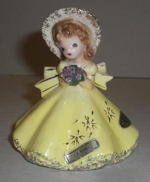 Vintage josef figurine poodles