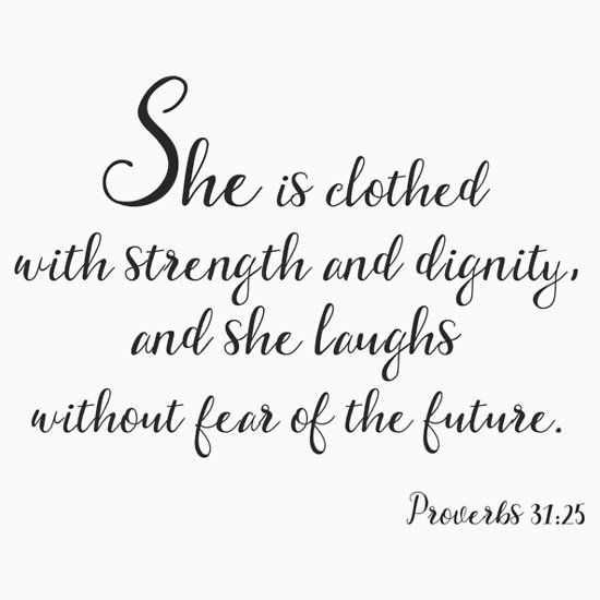 Poster She Is Clothed With Strength: 51 Best Inspirational And Motivational T-Shirts And Gifts