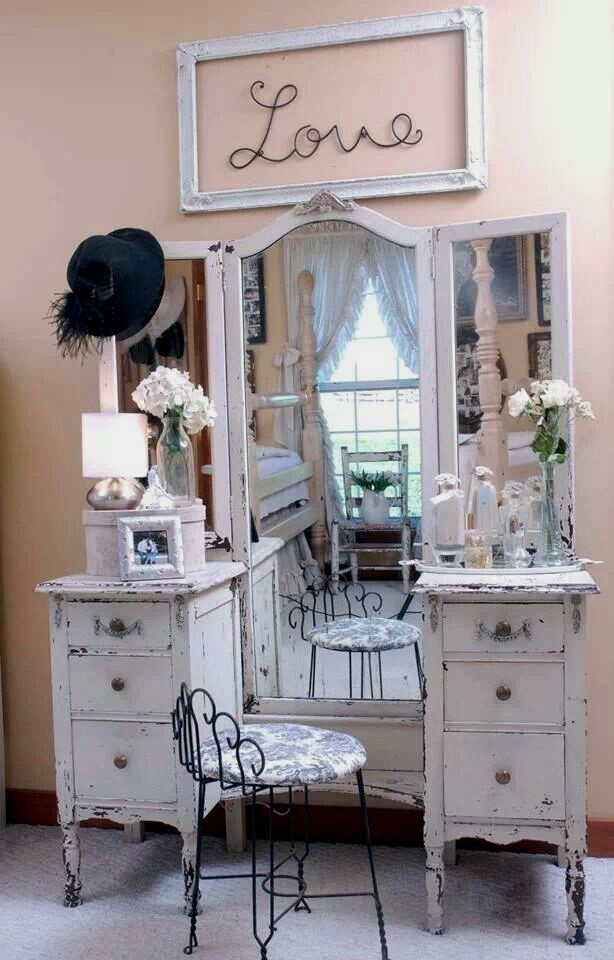 Diy Makeup Vanity Table VintageShabby Chic