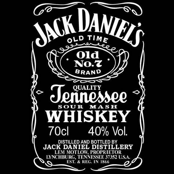 jack daniel's label