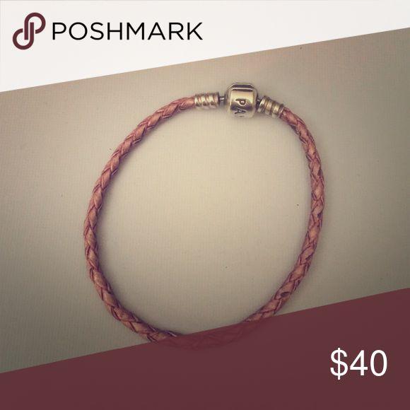Pink Pandora rope bracelet A brand new pink Pandora rope bracelet. Medium size. Pandora Jewelry Bracelets