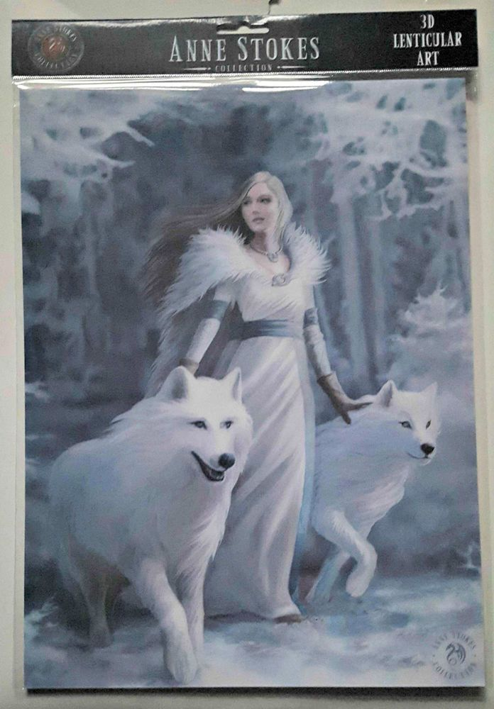 Brand New Licensed 3D Lenticular Art Anne Stokes Winter Guardians Print