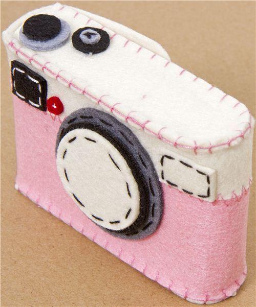 funny pink felt camera case from Japan