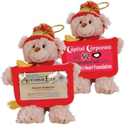 Versatile Business Card Bear With Beanie Min 50 - PROMOSXCHANGE offers a range of plush toys, temporary tattoos and other interesting Aussie gifts, Australian Gifts, Australia merchandise. Call 1800 PROMOS (776 667) - GO-880011s - Best Value Promotional items including Promotional Merchandise, Printed T shirts, Promotional Mugs, Promotional Clothing and Corporate Gifts from PROMOSXCHAGE - Melbourne, Sydney, Brisbane - Call 1800 PROMOS (776 667)
