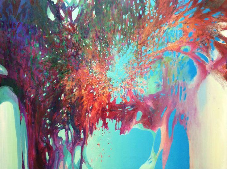 ADMerska, Wewnętrzna przestrzeń XXV   The Inner Space XXV', olej na płótnie   oil on canvas, 60 x 80 cm, 2016 r. Anna Daria Merska - WEWNĘTRZNA PRZESTRZEŃ - wystawa w Kartonovni w Warszawie - od 20 października do 23 listopada 2016 r. http://artimperium.pl/wiadomosci/pokaz/763,anna-daria-merska-wewnetrzna-przestrzen-kartonovnia#.V_6ihfmLTIU