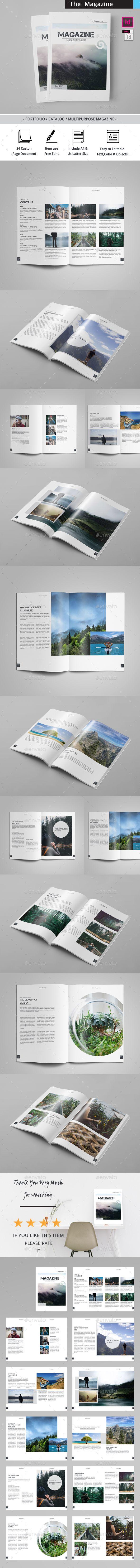 The Magazine - #Magazines #Print #Templates Download here: https://graphicriver.net/item/the-magazine/19323043?ref=alena994