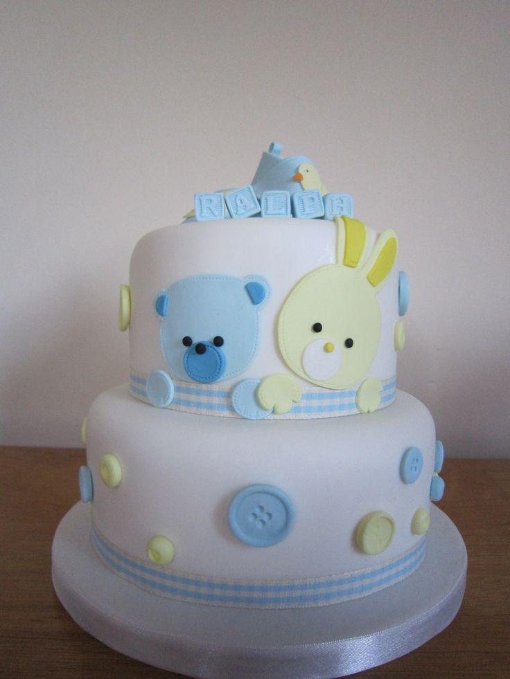 Christening cake or baby shower cake