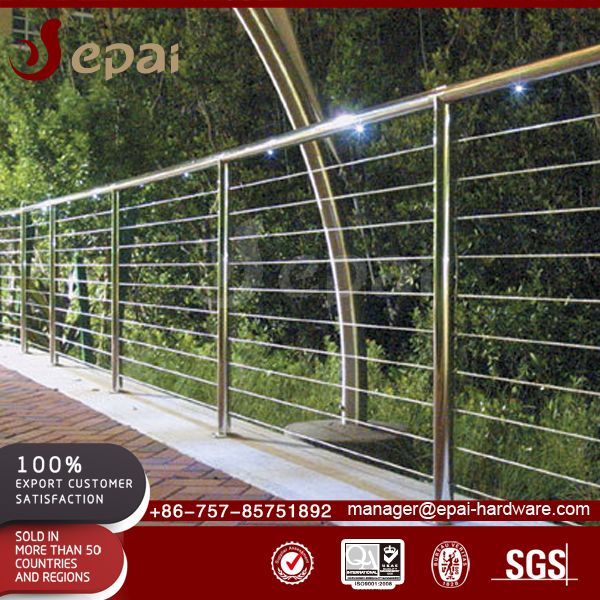 New design stainless steel materials outdoor stair cable railing systems for stairway