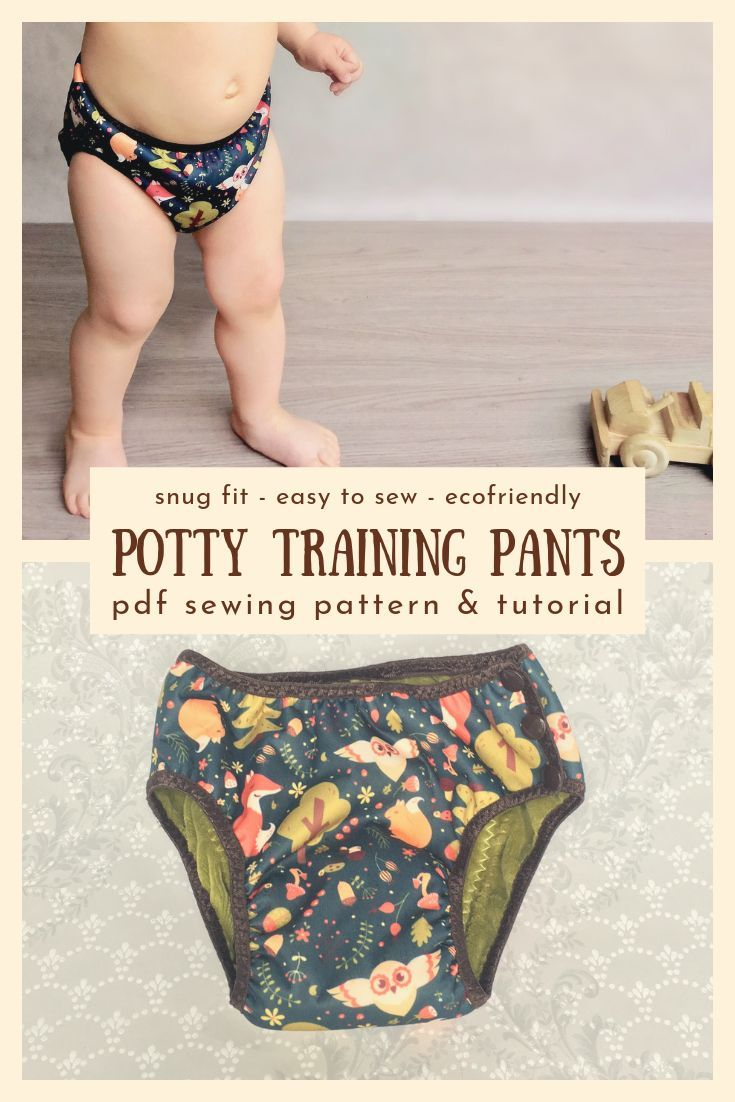 Cloth Training Pants Sewing Pattern For Potty Training Toddlers