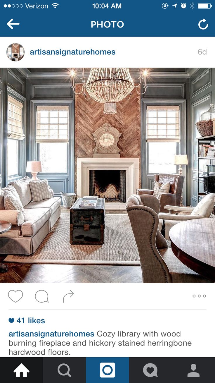 Stone fireplace with reclaimed bargeboard finish contemporary - Herringbone Barnwood Mantle