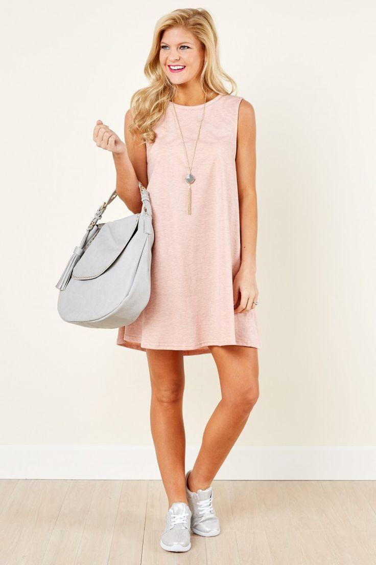 Weekend Chill Pink Dress at reddressboutique.com
