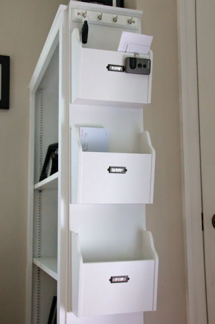 We love this organization by priority: now, later, and file. Keep all of those papers organized!