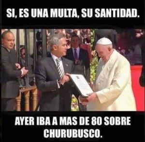 Los usuarios de redes sociales no dejaron pasar la ocasión para crear memes alusivos a la visita del Papa Francisco a México. Las imágenes de humor sobre supuestos milagros, así como de su recorrido por las principales avenidas de la capital del país fueron el momento perfecto para colocar al Pontífice en aprietos. Luego […]