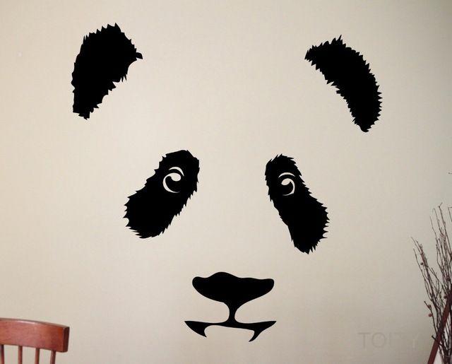 Panda Наклейки На Стены Симпатичные Животные Виниловые Наклейки Детские Декор Главная Номер Дизайн Интерьера Искусство Фрески для Детей Дети Спальня
