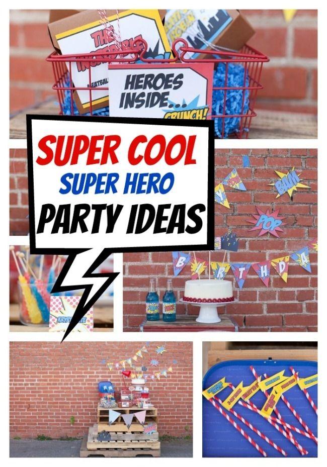 Super Hero Party - www.spaceshipsandlaserbeams.com