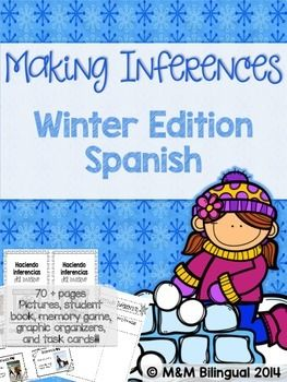Haciendo Inferencias en invierno  Making Inferences - Winter Edition in SPANISH!!!! Your kids will definitely love this product. Inferences can be a difficult skill, so why not begin your unit with fun, winter-themed photographs! This unit will allow students to practice connecting photo clues with their prior knowledge to make an inference!!