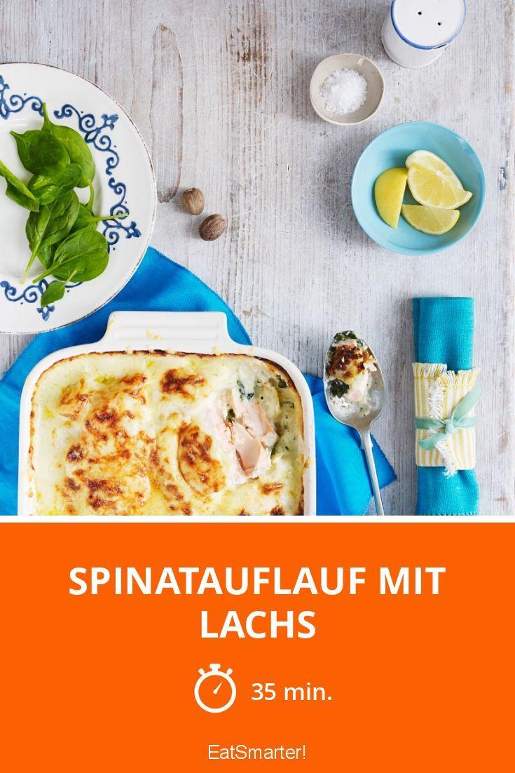 Spinatauflauf mit Lachs - smarter - Zeit: 35 Min.   eatsmarter.de