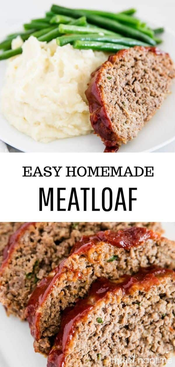 Amazing Homemade Meatloaf Recipe The Meatloaf Is So Tender And Juicy On The Inside With A Sweet Homemade Meatloaf Classic Meatloaf Recipe Good Meatloaf Recipe