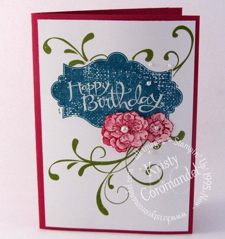 """Today's Card, is this Happy Birthday card featuring """"Everything Eleanor"""" Stamp set. you can always change the greeting to one a """"Thinking of You"""" or """"Thankyou"""" The Directions on how this card was ..."""
