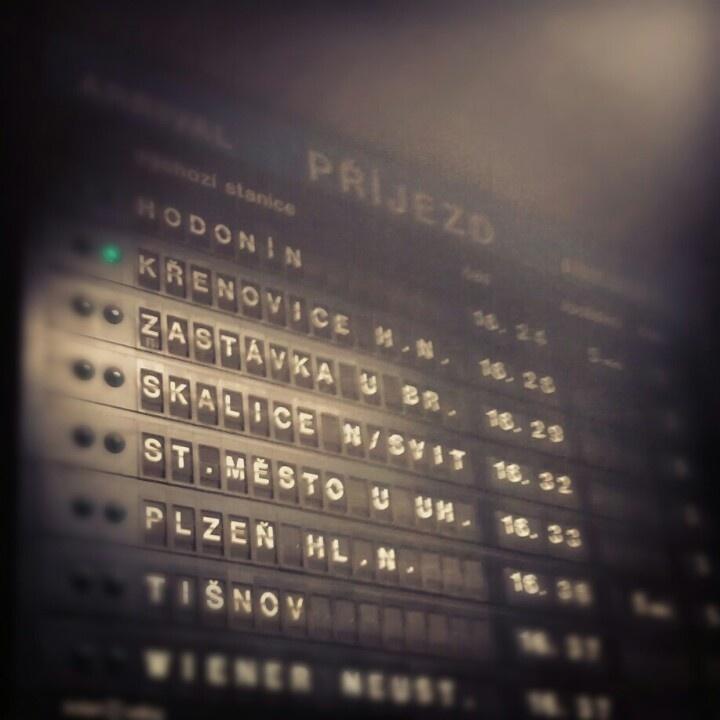 BRNO, Czech! The trainstation.