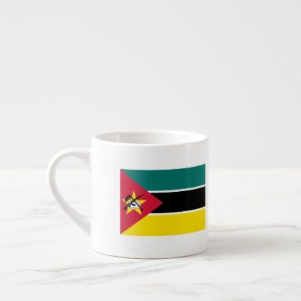 Mozambique Flag Espresso Cup - home gifts cool custom diy cyo