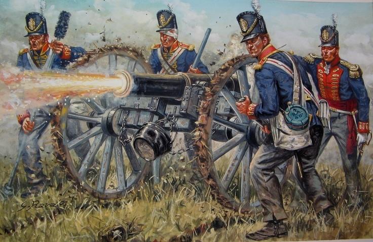 British artillery battery - Waterloo 1815
